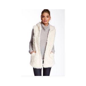 BCBGeneration Faux Fur Vest, Size Medium
